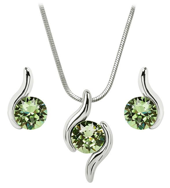 Troli Sada náhrdelníku a náušnic Chaton Wave Peridot