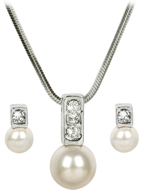 Troli Sada náhrdelníku a náušnic Pearl Caorle Cream