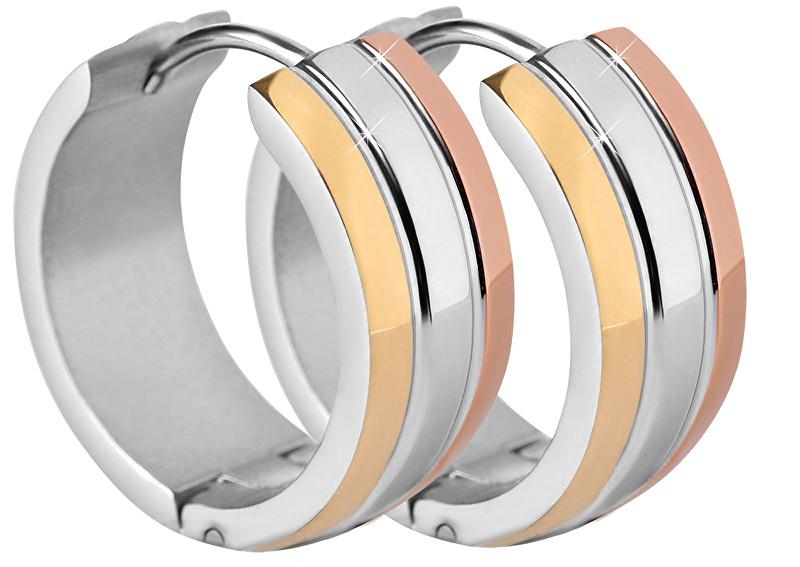 Troli Tricolor náušnice kroužky z oceli