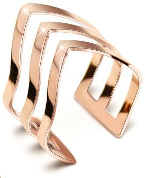 Troli Trojitý bronzový prsten z oceli