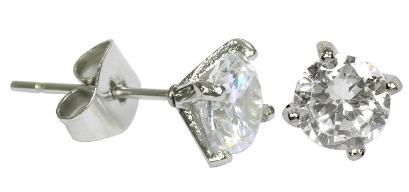 Tribal Ocelové náušnice s krystalem ESJ04