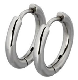 Tribal Oceľové náušnice krúžky ESS503_10 Steel