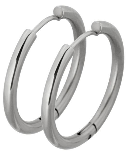Tribal Oceľové náušnice krúžky ESS503_20 Steel