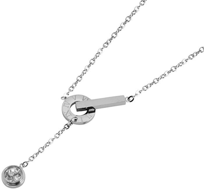 Tribal Ocelový náhrdelník s krystalem NSS548