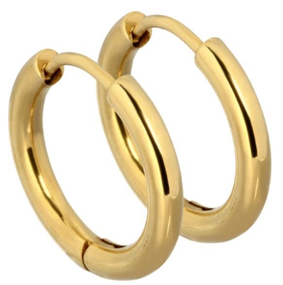 Tribal Pozlacené náušnice kroužky ESS503_12 Gold