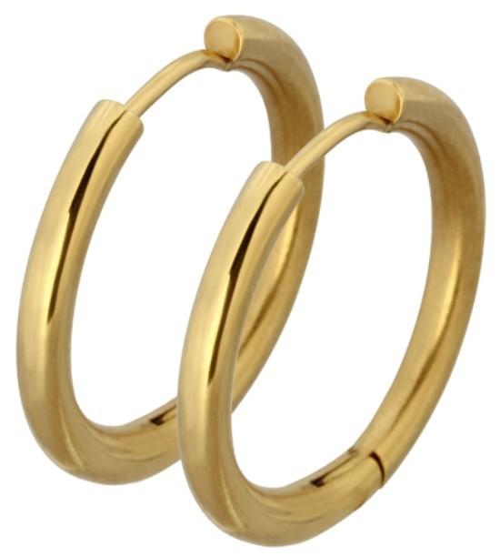 Tribal Pozlacené náušnice kroužky ESS503_16 Gold