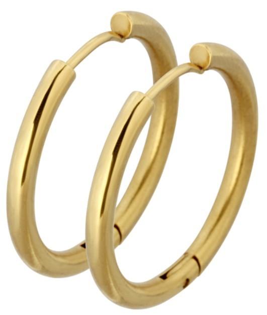 Tribal Pozlátené náušnice krúžky ESS503_20 Gold