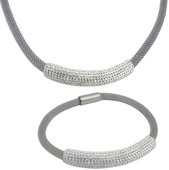 Tribal Sada náhrdelníku a náramku s krystaly SET134