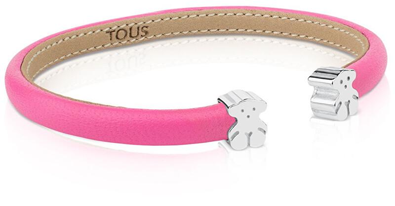 Tous Růžový náramek s medvídky 311901500 - obecný kov 3 g + stříbro 2 g - SLEVA