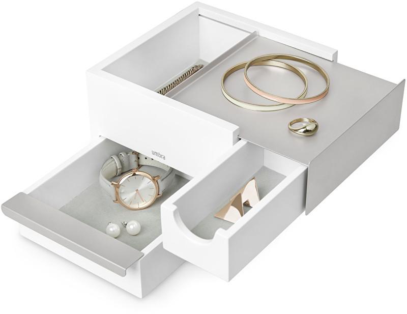 Umbra Šperkovnice STOWIT mini bílá/nikl 1005314670
