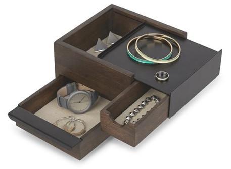Umbra Šperkovnice STOWIT mini černá/hnědá 1005314048