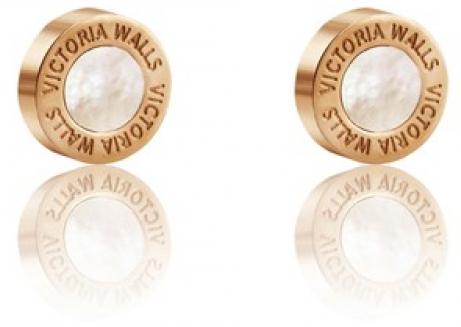 Victoria Walls Pozlacené náušnice s perletí VE1047G