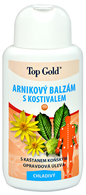 Chemek TopGold - Arnikový balzám s kostivalem - chladivý 200 ml