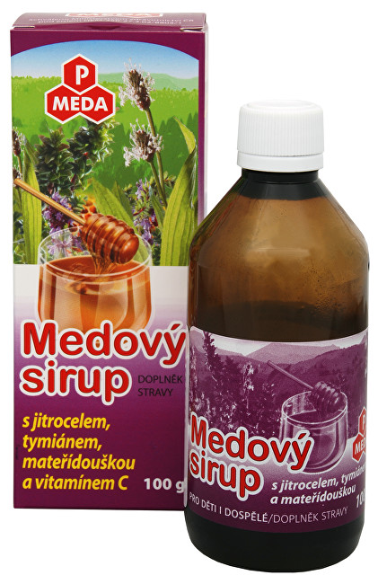 Zobrazit detail výrobku Purus Meda PM Medový sirup s jitrocelem, tymiánem, mateřídouškou a vitamínem C 100 g
