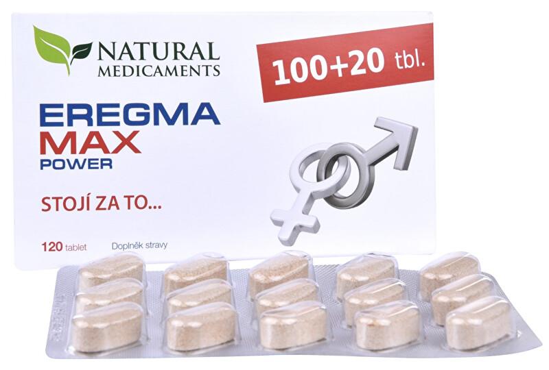 Zobrazit detail výrobku Natural Medicaments Eregma MAX power 100 tbl. + 20 tbl. ZDARMA