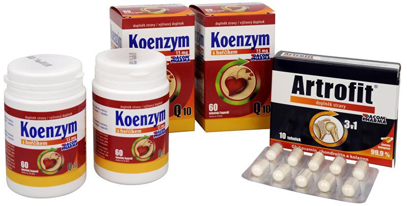 Dacom Pharma Koenzym Q10 s hořčíkem DUO 2x60 tob. Artrofit 10 tob.