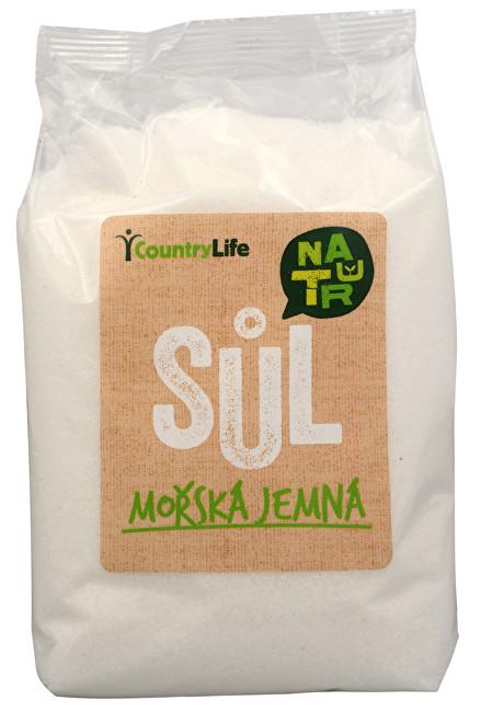 Country Life Mořská sůl jemná z Atlantiku 1 kg