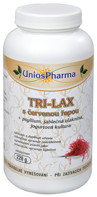 Unios Pharma Tri-lax s červenou řepou 220 g