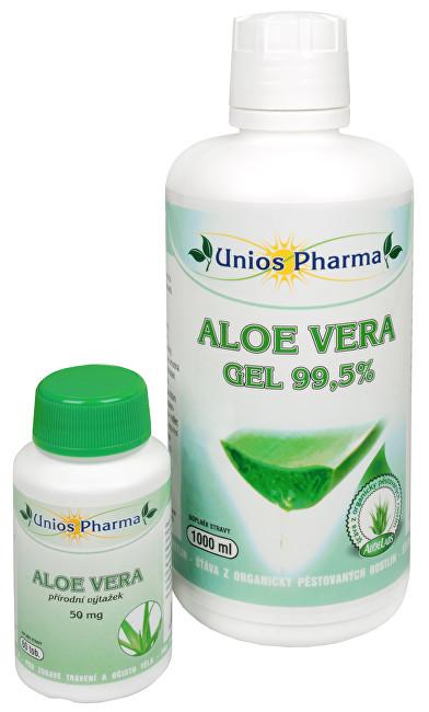 Zobrazit detail výrobku Unios Pharma Aloe vera gel 99,5% 1 l + Aloe vera 60 kapslí ZDARMA