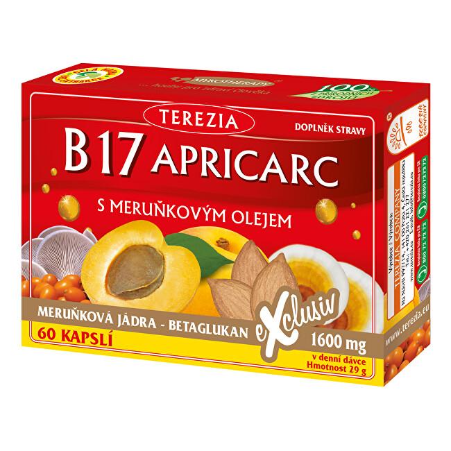 Zobrazit detail výrobku Terezia Company B17 Apricarc s meruňkovým olejem 50 kapslí + 10 kapslí ZDARMA