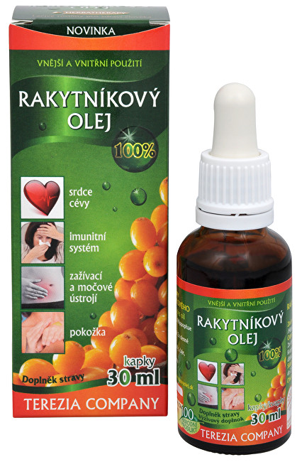 100% Rakytníkový olej - kapky 30 ml