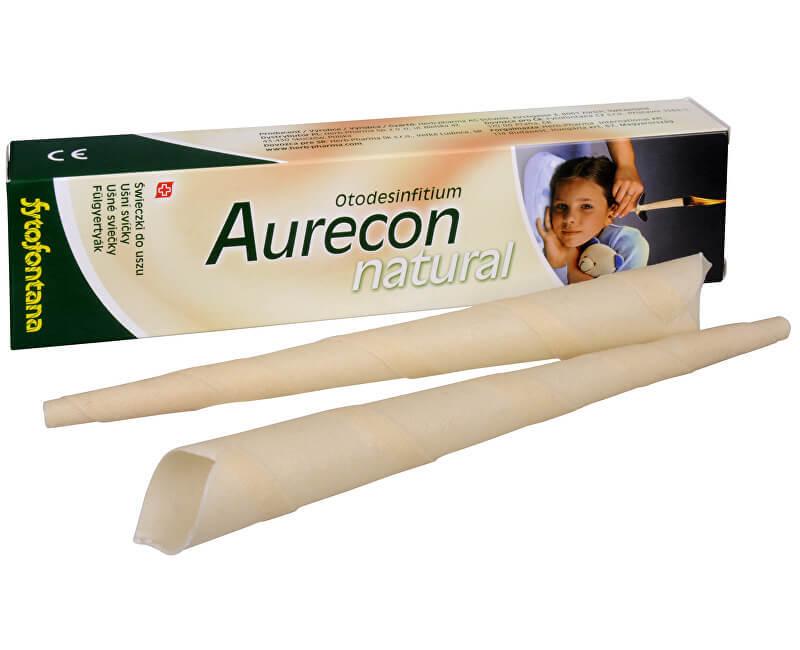 Aurecon ušní svíčky Natural 2 ks