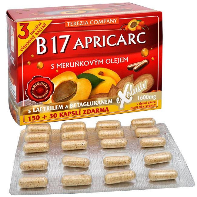 Zobrazit detail výrobku Terezia Company B17 Apricarc s meruňkovým olejem 150 kapslí + 30 kapslí ZDARMA