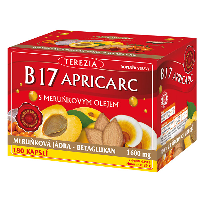 Zobrazit detail výrobku Terezia Company B17 APRICARC s meruň.olejem 150+30 kapslí