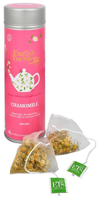 Zobrazit detail výrobku English Tea Shop Čaj Čistý heřmánek - plechovka s 15 bioodbouratelnými pyramidkami