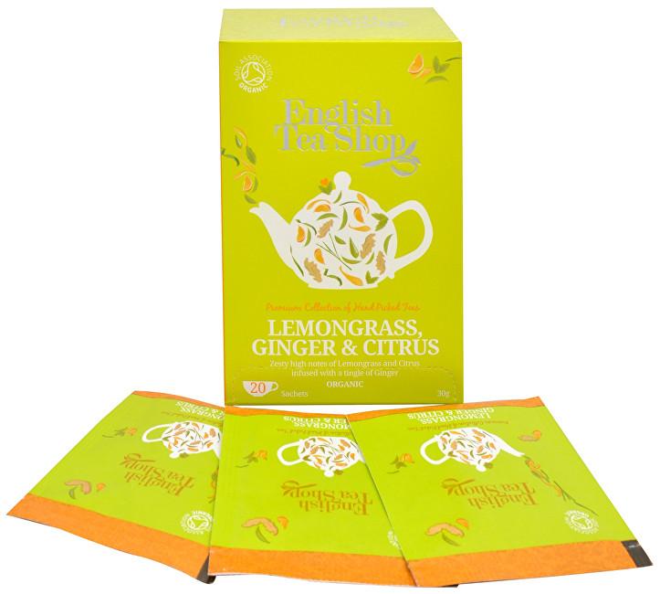 Zobrazit detail výrobku English Tea Shop Čaj Citrónová tráva, zázvor & citrusy 20 sáčků
