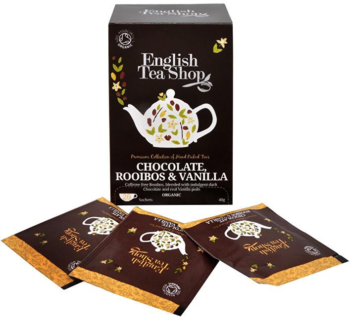 Zobrazit detail výrobku English Tea Shop Čaj Čokoláda, rooibos & vanilka 20 sáčků