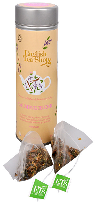 Čaj Zklidňující směs - plechovka s 15 bioodbouratelnými pyramidkami