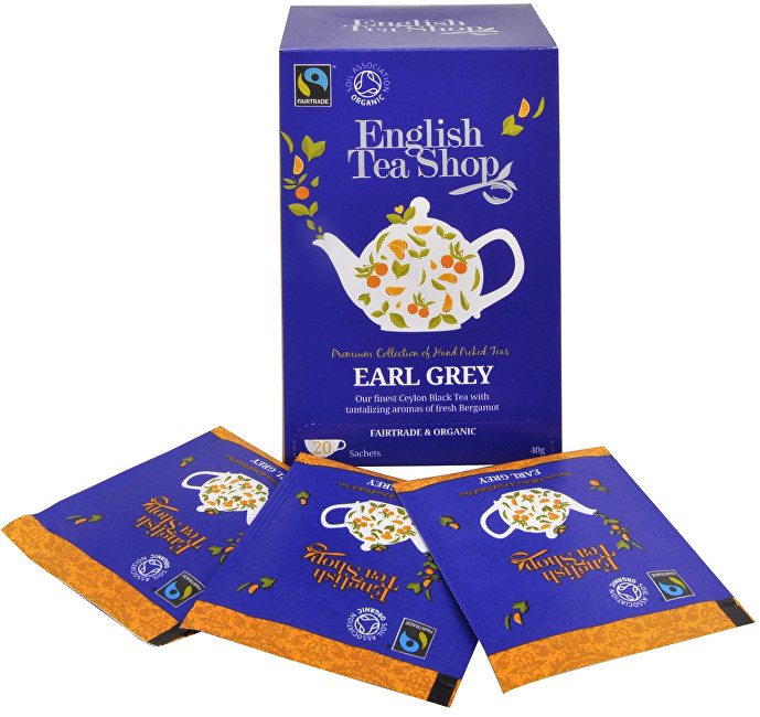 Černý čaj Earl Grey s bergamotem 20 sáčků