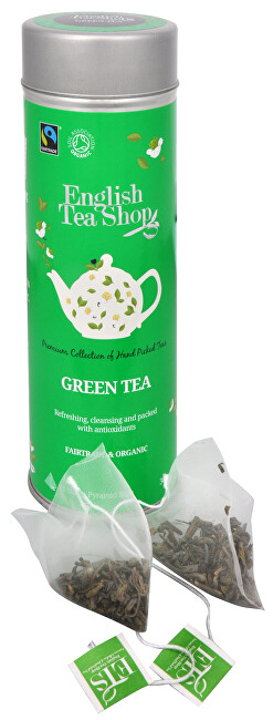 Čistý zelený čaj - plechovka s 15 bioodbouratelnými pyramidkami