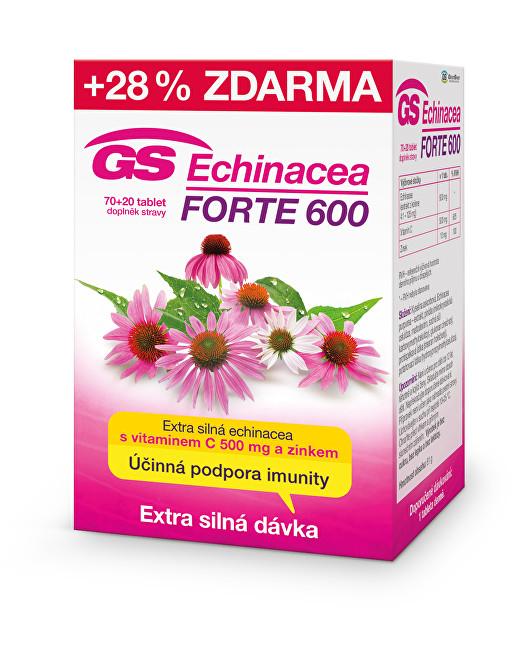 GS Echinacea FORTE 600 70 tbl. + 20 tbl. ZDARMA