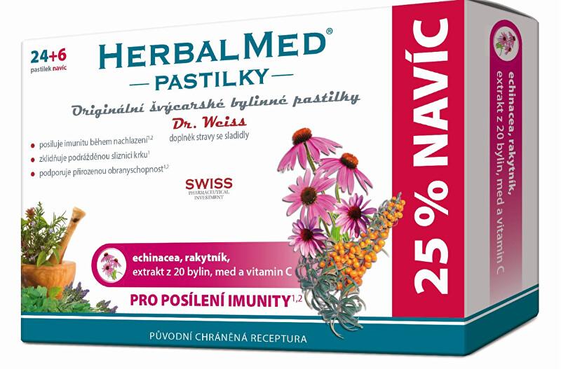 Zobrazit detail výrobku Simply You HerbalMed pastilky Dr. Weiss pro posílení imunity 24 pastilek + 6 pastilek ZDARMA
