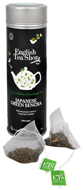 Zobrazit detail výrobku English Tea Shop Japonský zelený čaj Sencha - plechovka s 15 bioodbouratelnými pyramidkami