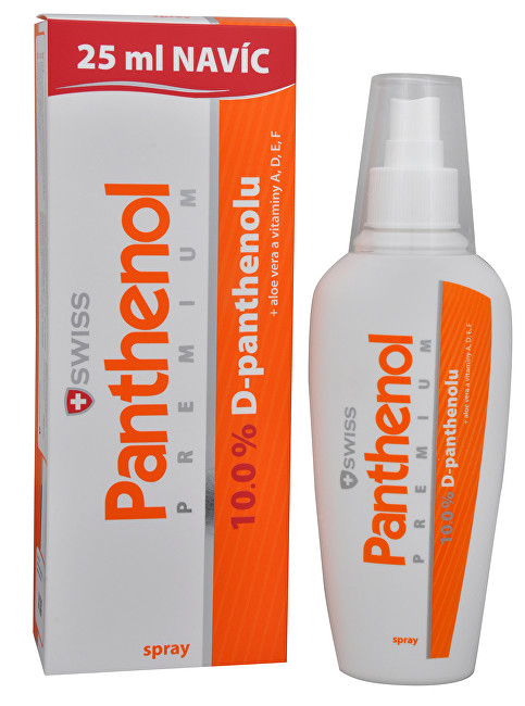 Panthenol 10% Swiss PREMIUM - spray 150 ml + 25 ml ZDARMA