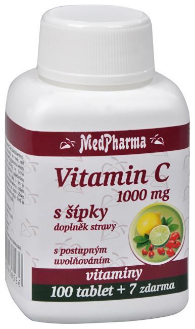 MedPharma Vitamín C 1000 mg so šípkami 100 tabletiek + 7 tablet ZD ARMA
