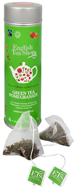 Zobrazit detail výrobku English Tea Shop Zelený čaj s granátovým jablkem - plechovka s 15 bioodbouratelnými pyramidkami