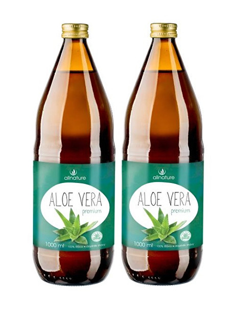 Zobrazit detail výrobku Allnature Aloe vera Premium 1000 ml + 1000 ml ZDARMA