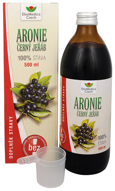 EkoMedica Czech Arónie - 100% šťava z plodu arónia čiernoplodá 500 ml