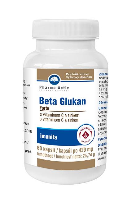 Zobrazit detail výrobku Pharma Activ Beta Glukan Forte s vitamínem C a zinkem 60 kapslí