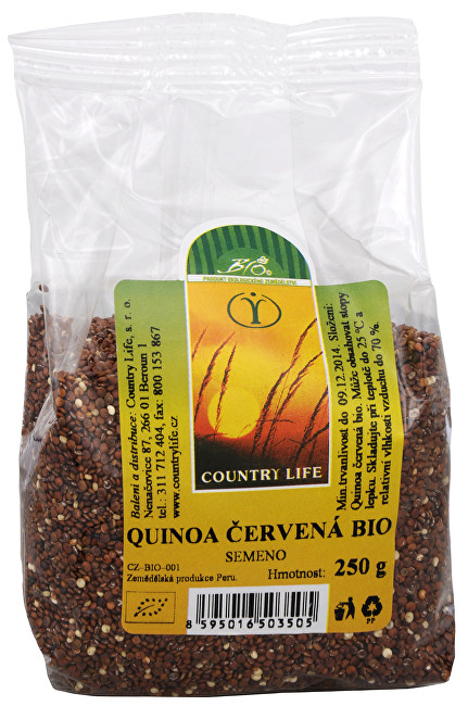 Country Life Quinoa červená BIO 250 g