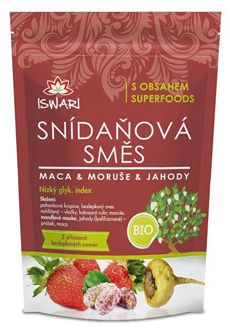 Iswari BIO Snídaňová směs Maca, moruše, jahoda 300 g