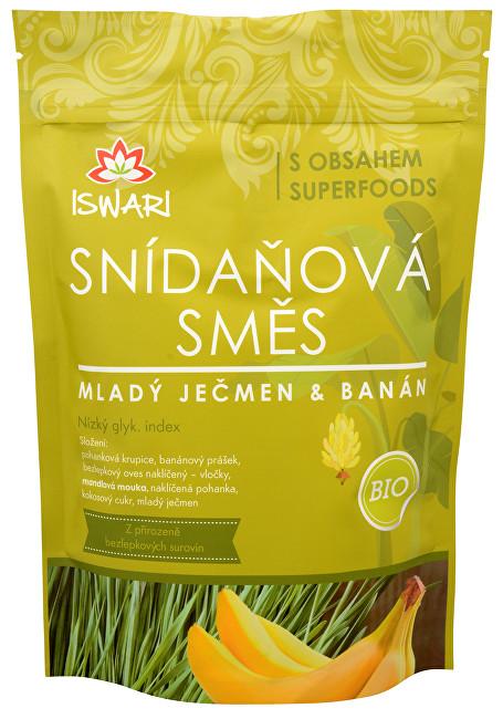 Iswari BIO Snídaňová směs Mladý ječmen, banán, naklíčená pohanka 800 g