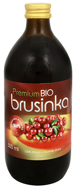 Allnature Brusnica Premium - 100% Bio šťava 500 ml