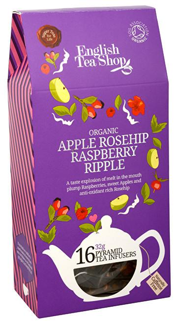 Zobrazit detail výrobku English Tea Shop Čaj Šumný šípek, jablko, malina 16 pyramidek