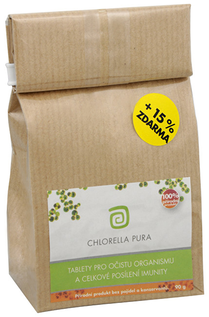 Chlorella Pura 90 g + 13,5 g ZDARMA