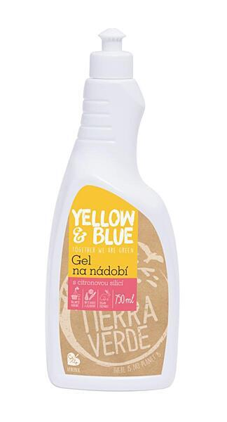 Yellow & Blue Gel na nádobí z mýdlových ořechů 750 ml